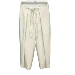 Club Monaco High Rise Tie Waist Wide Leg Pants 2